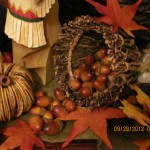 Acorns Falling Over! Turn your basket sideways and allow the acorns to fall over.