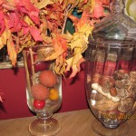 "Fill with Autumn ""fillers""  You can buy ""fillers"" at any craft store. See my list for ideas of fillers."