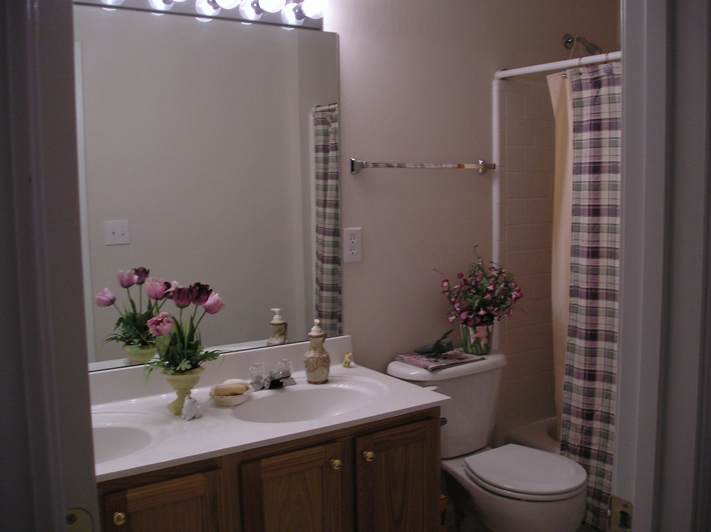 Bathroom picture is from my 1st home.