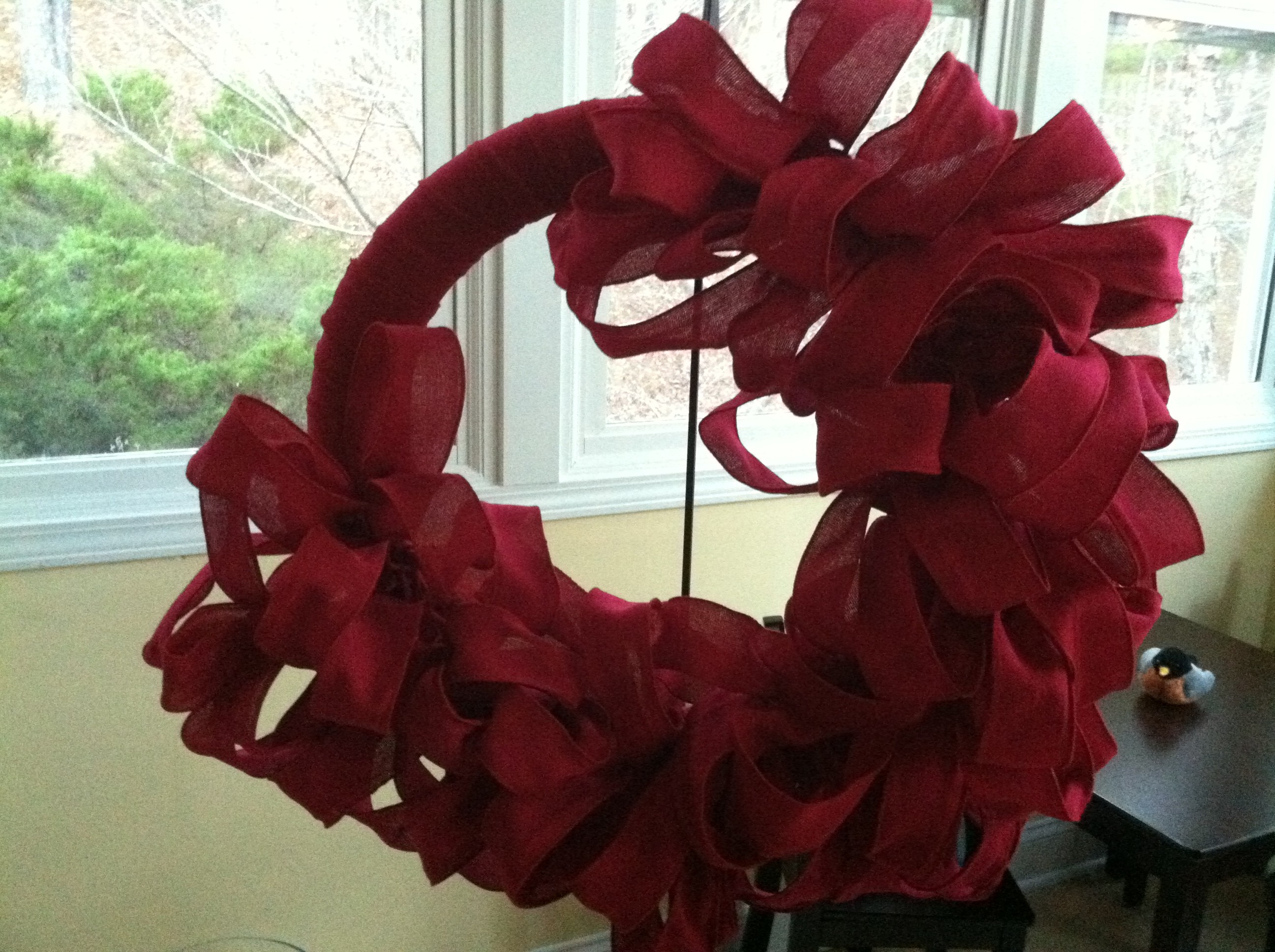 Red Burlap Wreath Valentines Day Mommy Blogs Decorate Home For