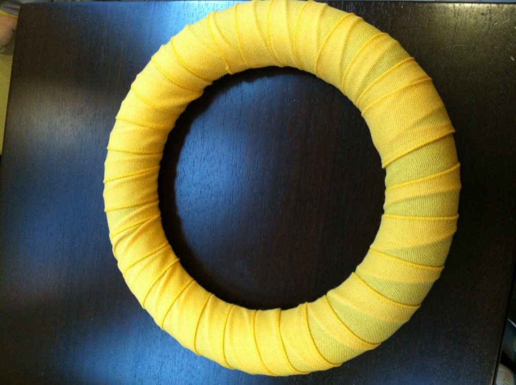 Yellow Burlap Wreath