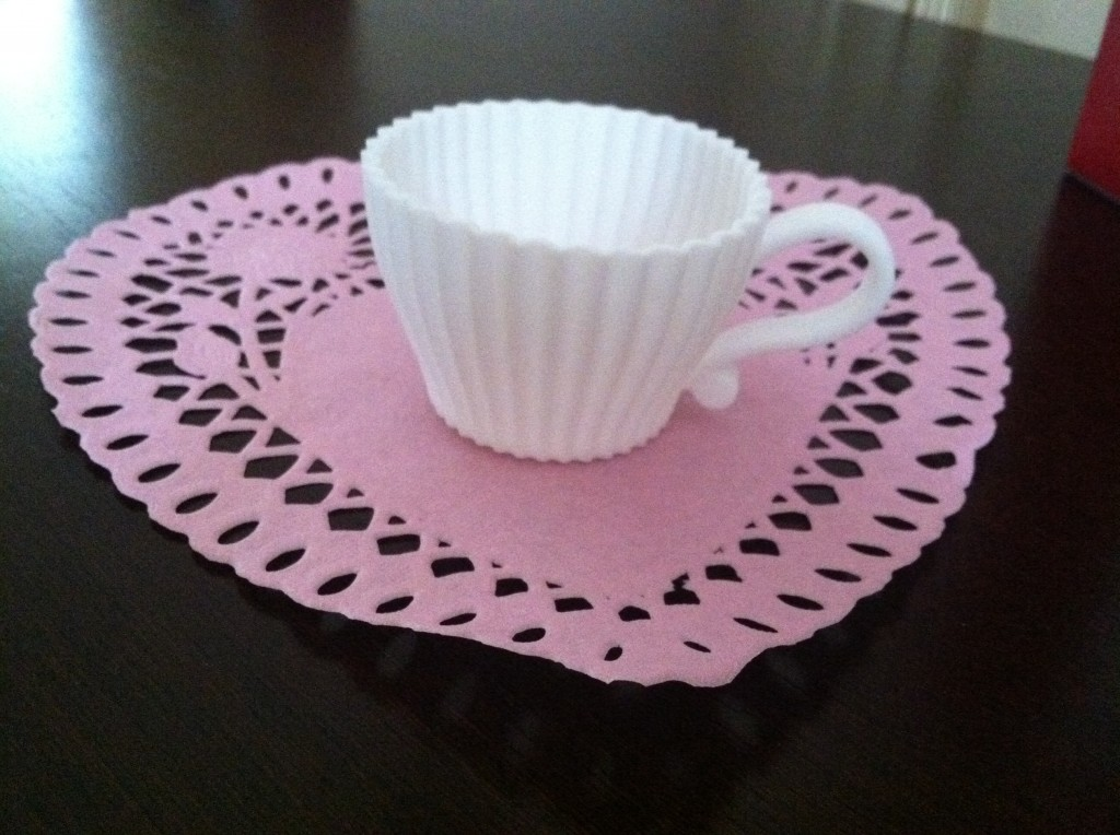 Tea-cup Valentines Day Cupcake Liner