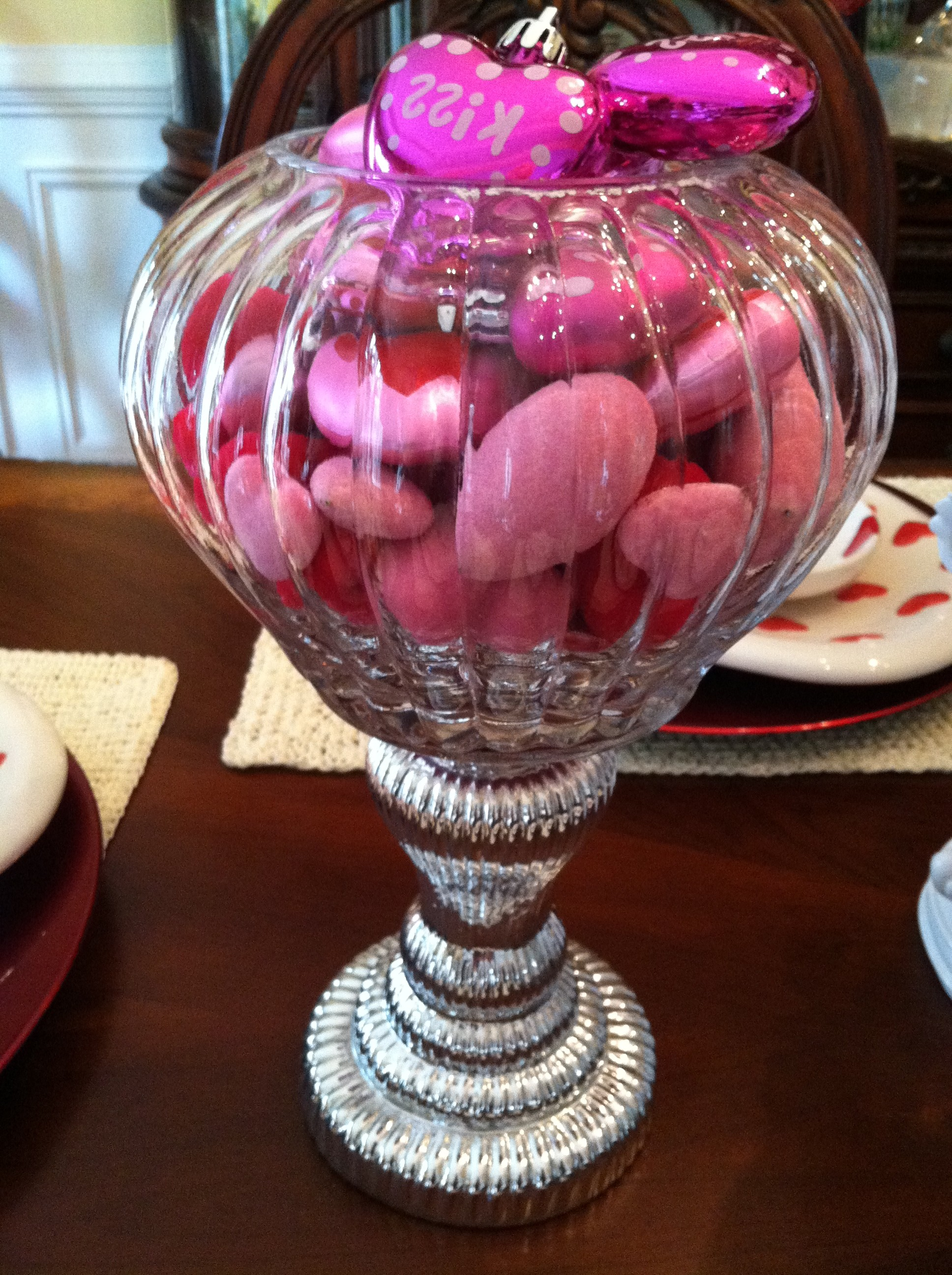 Valentines Day Hearts In Apothecary Jar