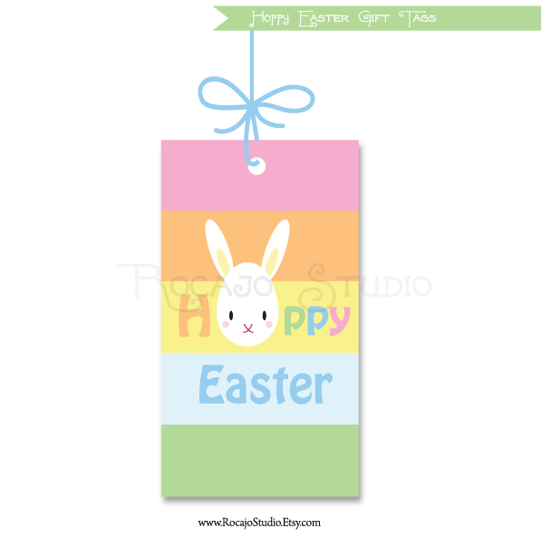 Free Downloadable Easter Tags