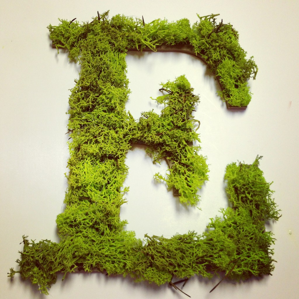 Easter Moss Letter Craft - MommyDecorates.com
