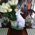 Add real or plastic tulips to the vase