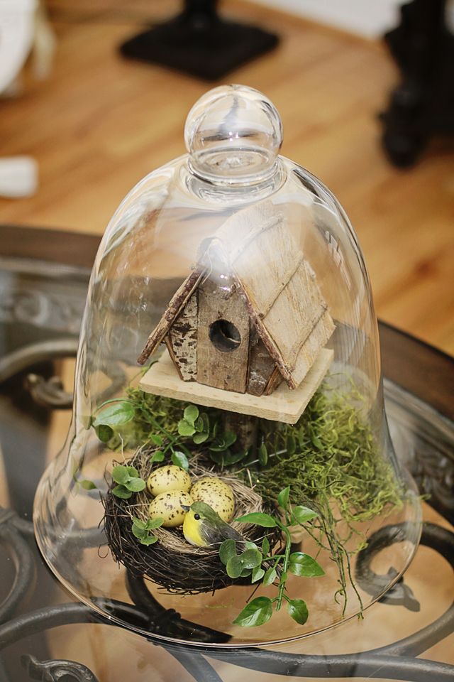 diy craft and decorating ideas with a glass dome cloche