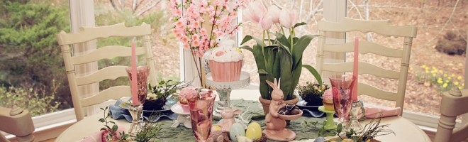 Beautiful Easter Table-Scape