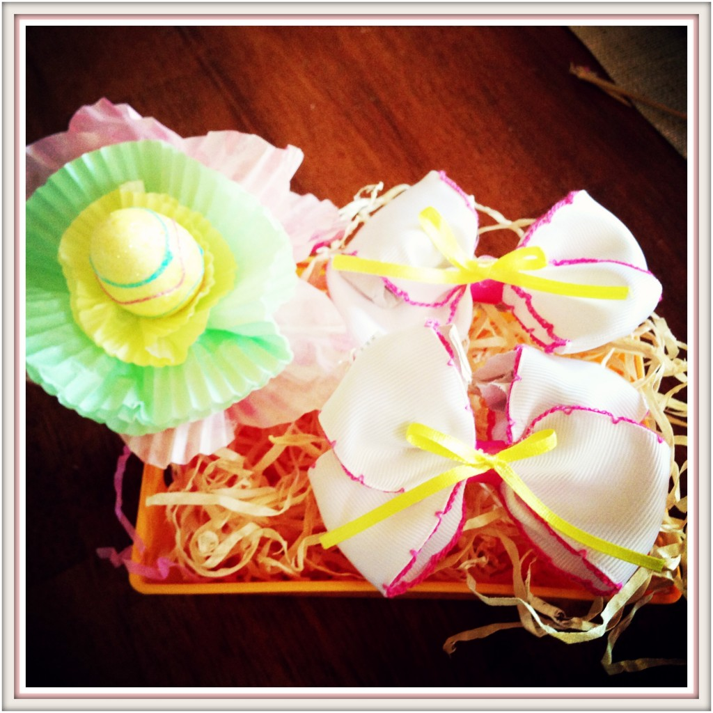 Cupcake Holder Flower Hair-bow