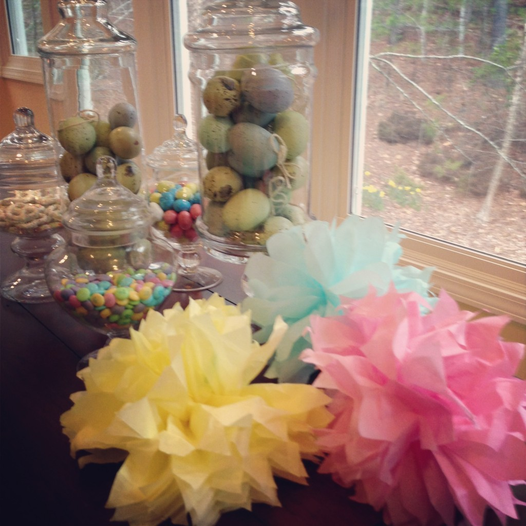 Candy Jars - Filled With Easter Eggs And Candy: MommyDecorates.com