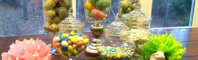 Decorating With Easter Apothecary Jars