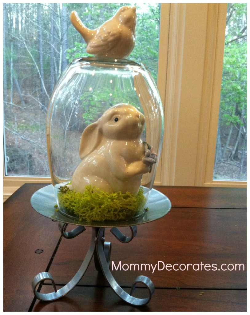 Glass And Bunny Decoration