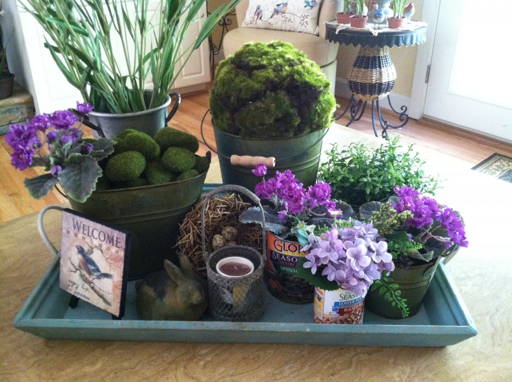 Recycled Vegetable Cans Turned Into Table-Decor: MommyDecorates.com