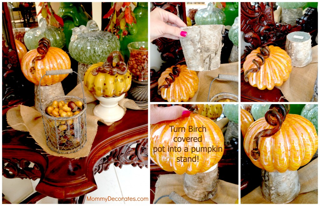 Easy Decorating With Pumpkins For FallMommyDecorates.com