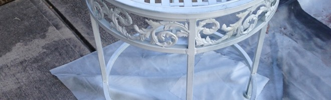 Updating Furniture With White Spray Paint
