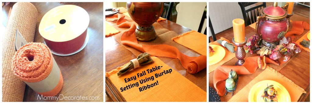 How To Create An Easy Fall Table-Scape
