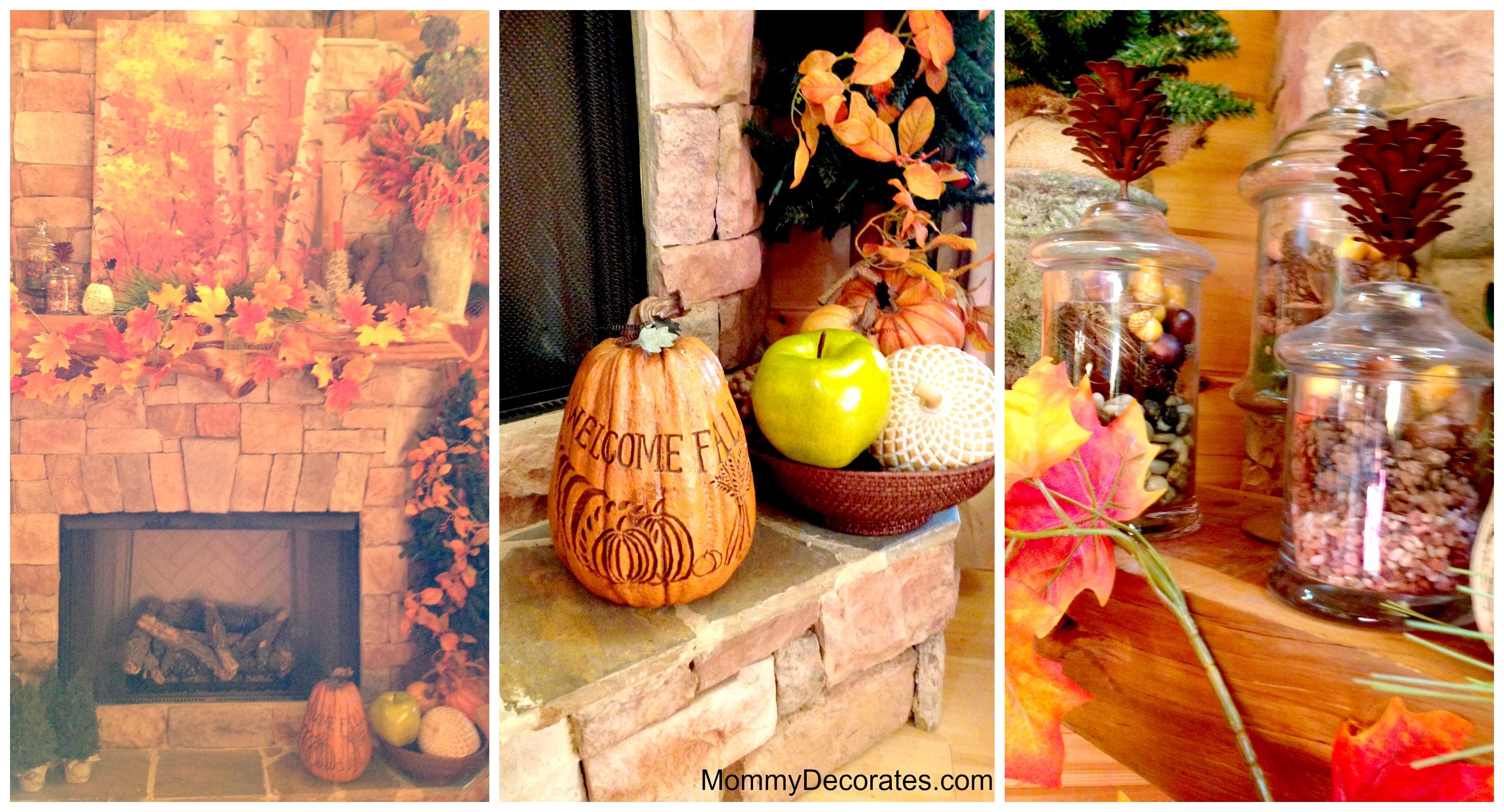 ideas for decorating your fireplace mantel for fall time