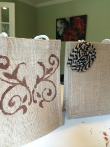 Fall Burlap Bag